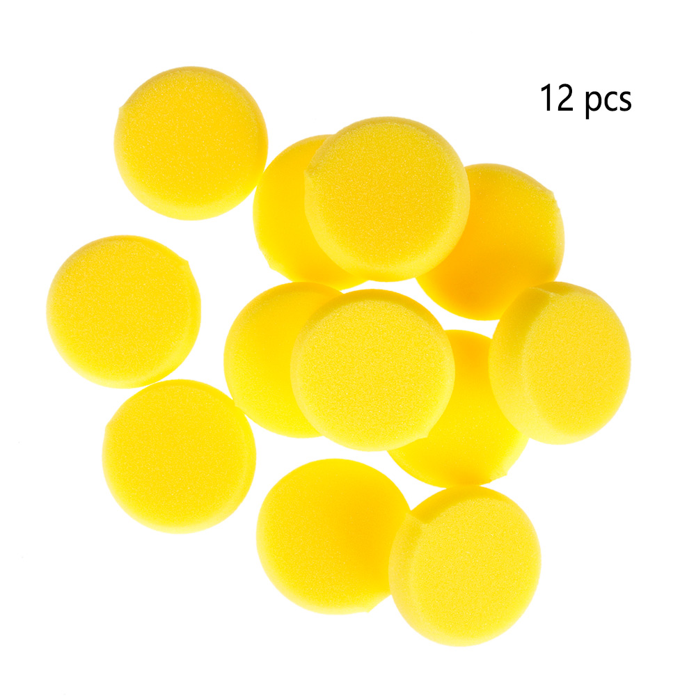 12PCS/set Round Synthetic Painting Watercolor Artist Sponge Brush Crafts Yellow  Paint Round Sponge Tools Cleaning