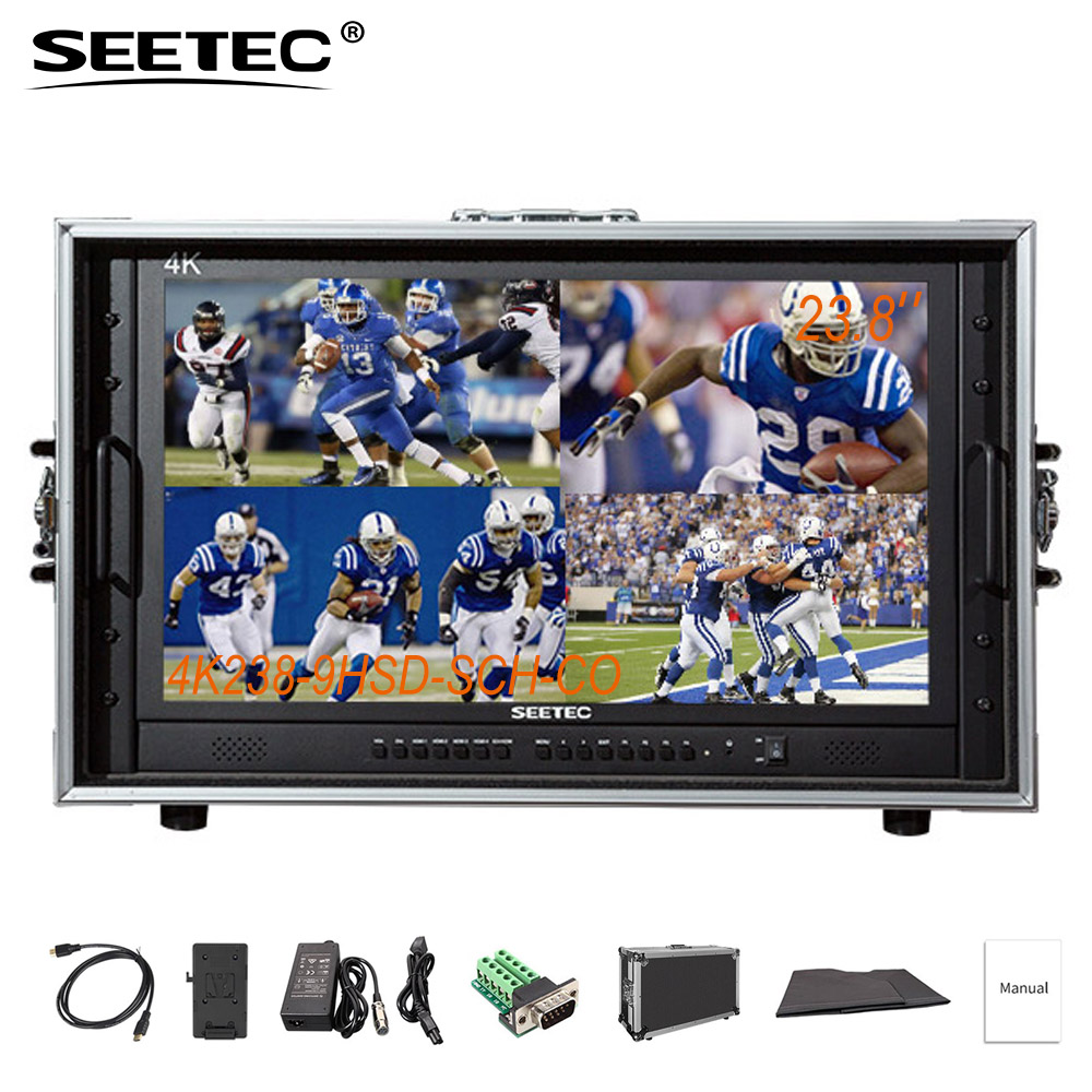 купить SEETEC 4K238-9HSD-SCH-CO Carry On Broadcast Director Monitor Built-in SDI HDMI Cross Converter Ultra HD 3840x2160 IPS Display по цене 65957.58 рублей