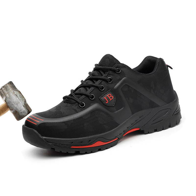 Fashion Safety Shoes Men Outdoor Steel Anti-puncture Boots Lightweight and Breathable Casual Work Shoes Steel Toe Shoes XX-364