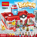 1280pcs Pokemon Go Generations Pikachu Medical Center Building Blocks Kits Japanese Anime Game Compatible With Lego