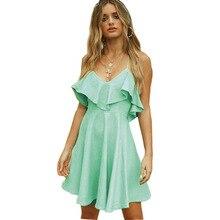 Backless Cross V-neck Strap Mini Dress