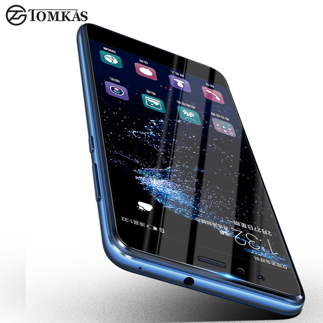 low priced 060a1 f13f1 US $1.48 40% OFF|TOMKAS Huawei P10 Lite Tempered Glass Screen Protector  Huawei P10 Lite Ultra thin Full Cover Protector Glass For P10 Lite Film-in  ...