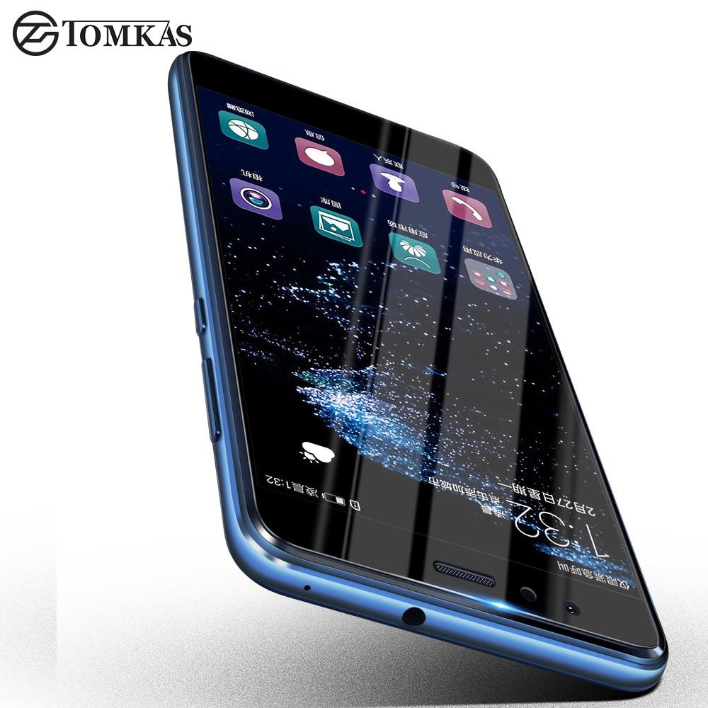 TOMKAS Huawei P10 Lite Vetro Temperato la Protezione Dello Schermo Huawei P10Lite Ultra-sottile Pieno Della Copertura Della Protezione di Vetro Per P10 Lite pellicola