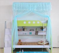 Summer Children Bunk Bed Bedroom Mosquito Net Lace Decoration Single Door Design 4 Colors Free Ship
