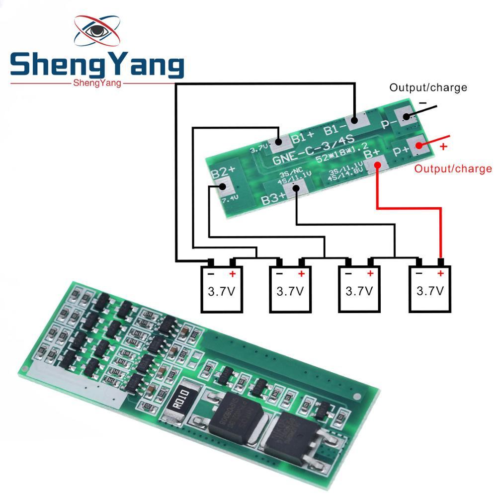 ShengYang 4S 8A полимерный литий-ионный аккумулятор зарядное устройство Защитная плата для 4 серийный 3,7 литий-ионный зарядный защитный модуль BMS