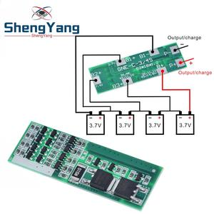 ShengYang 4S 8A Polymer Li-ion Lithium Battery Charger Protection Board For 4 Serial 4pcs 3.7 Li-ion Charging Protect Module BMS(China)