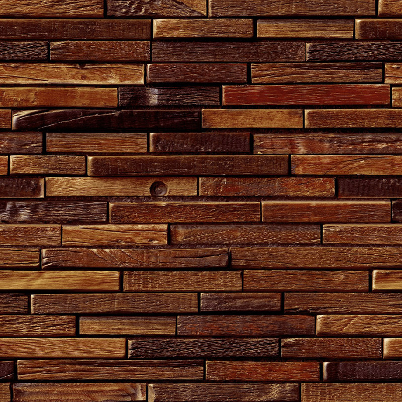 Pvc Wallpaper 3d Stereo Relief Brick Wall Wood Grain