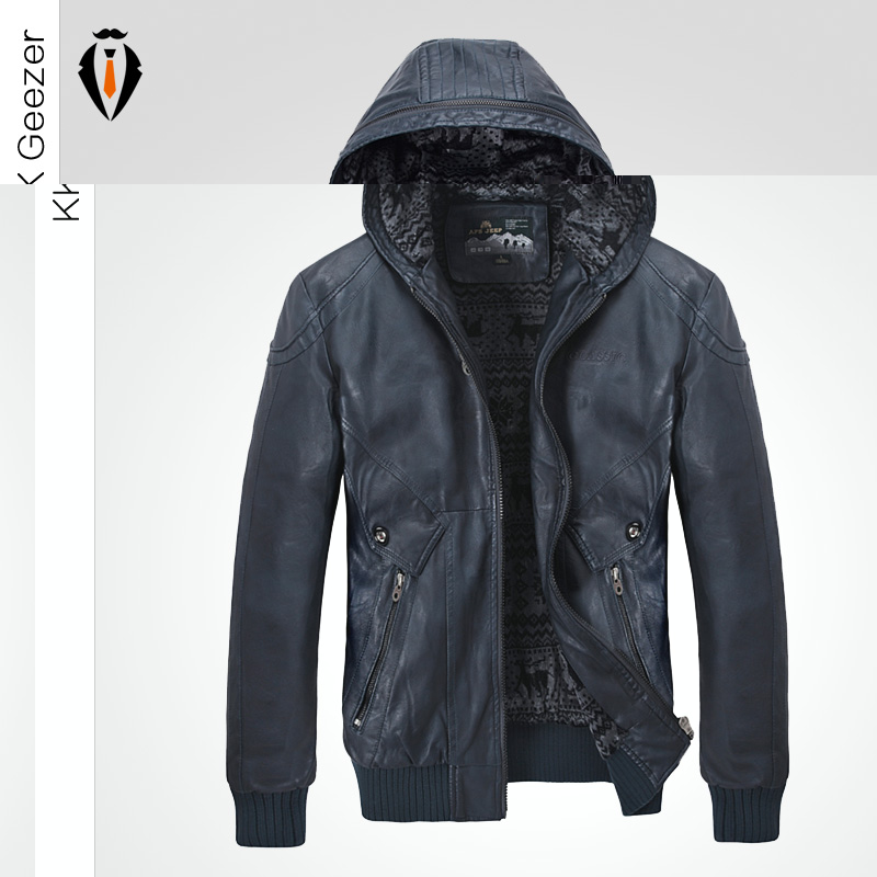 Online Get Cheap Mens Hooded Leather Jacket -Aliexpress.com ...