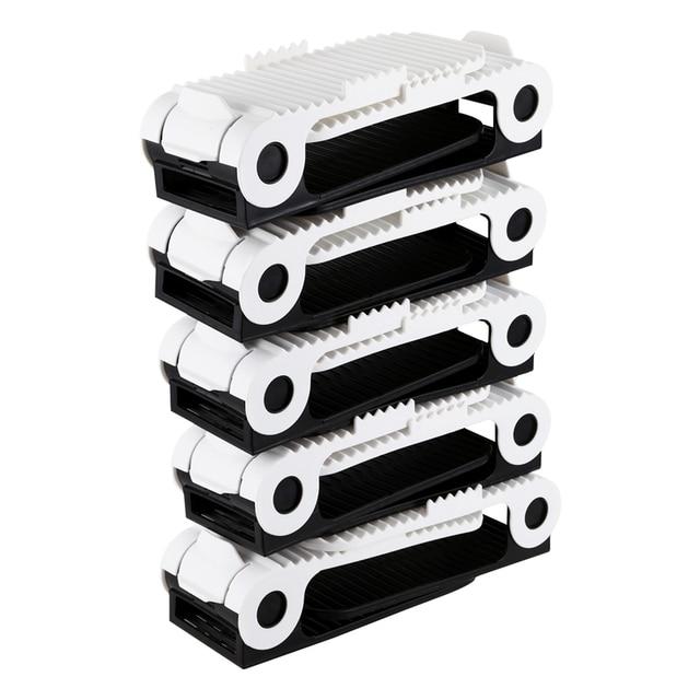 10x Adjustable Shoe Slots Organiser Space Saver Free Shoe Storage Stacker Holder