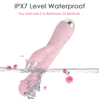 New 2018 Powerful Rechargeable Sex Toys for Woman G Spot Wand Body Massage Vibrator Rabbit Heated With Magnetic Sex Product Pink