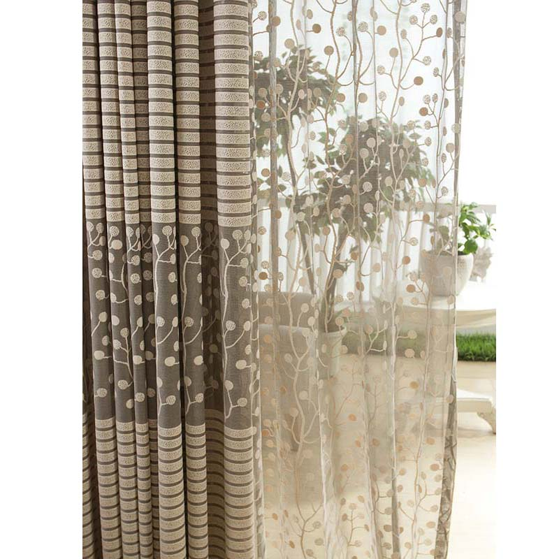 Hot Sale Modern Tree Leaf Pattern Chic Home Window Drape Khaki Curtains  Panel Home Decor In Curtains From Home U0026 Garden On Aliexpress.com | Alibaba  Group