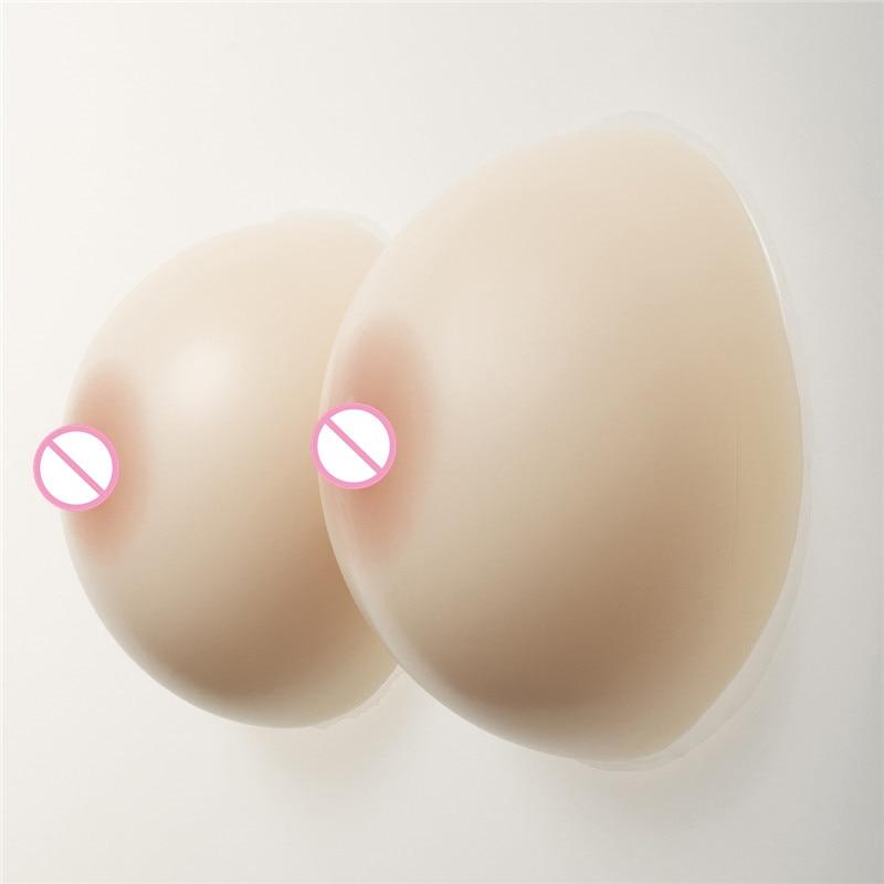 Buy White/Beige/Brown Artificial Boobs Enhancers 1400g/pair Transgender Round Silicone Breast Form Sexy Dark Brown Nipple