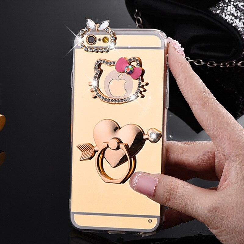 i6/6s Luxury Glitter Hello kitty case For Apple iphone 6