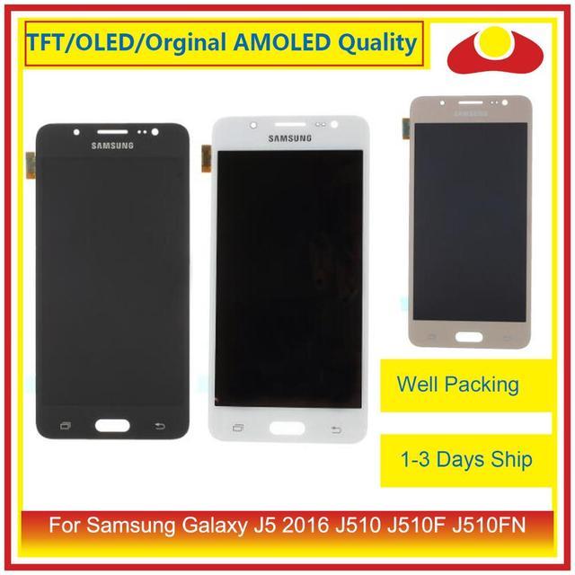 50 adet/grup DHL Samsung Galaxy J5 2016 J510FN J510F J510G lcd ekran Ile dokunmatik ekran digitizer Paneli Pantalla Komple