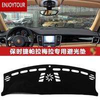 Car Dashmats Car styling Accessories Dashboard Cover for Porsche Panamera 2010 2011 2012 2013 2014 2015 2016 RDH+LHD