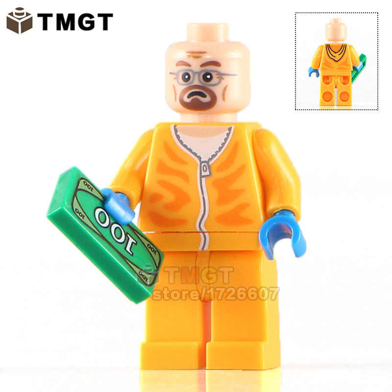 Single Sale KL060 Designer Walter Jesse Breaking Bad Super Hero Building Blocks Bricks Kids DIY Toys Kids Gift KL9009