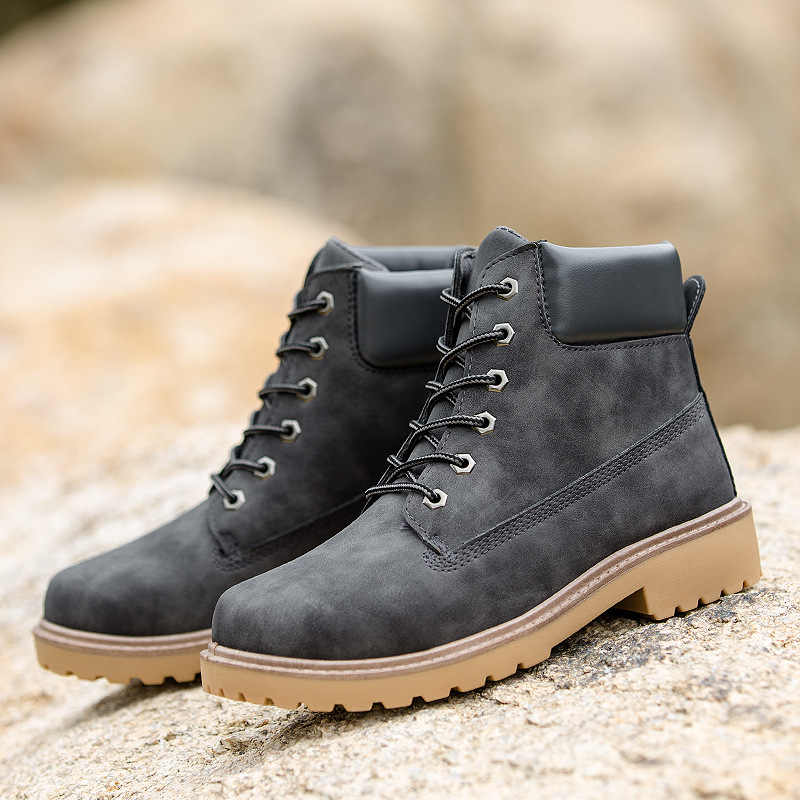 7d459545839 ... 2018 New Arrival Spring Autumn Boots Men Suede Leather Unisex Style  Fashion Male Work Shoes Lover