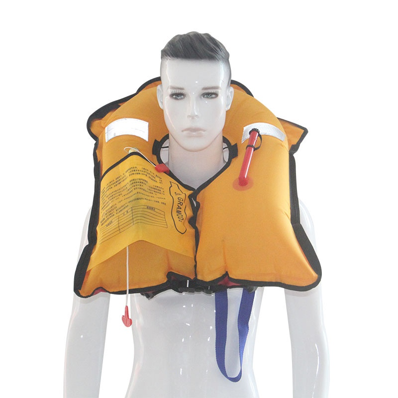 Liberal Professional Adult Swiming Fishing Life Vest Manual Inflatable Life Jacket Swimwear Water Sports Swimming Survival Jacket High Quality Materials