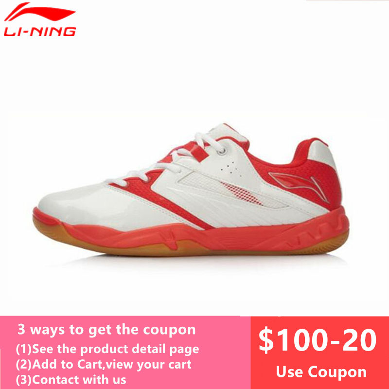 Li Ning Men and Women Badminton Shoes Breathable Anti Slippery Sneakers Professional Lining AYTL025 AYTL034 Sports