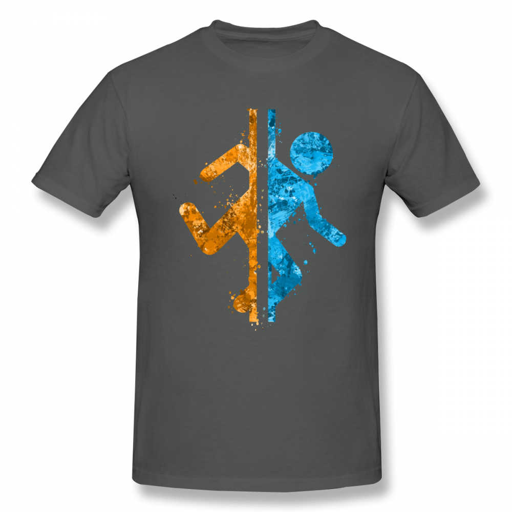 Portal T camisa Portal salpicaduras camiseta Casual Tee camisa hombre lindo 5x de algodón camiseta de manga corta