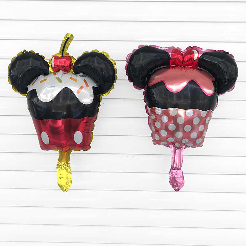 50 ชิ้น 46X35 เซนติเมตร Mini Minnie Mickey mouse อลูมิเนียมบอลลูนปาร์ตี้วันเกิดเด็กอุปกรณ์ตกแต่งของเล่นเด็กบอลลูนอากาศ