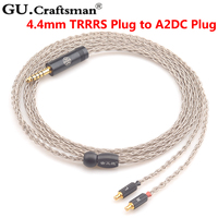 GUcraftsman 6n silver ATH CKR90is CKR100is CKR1100is LS400 LS300 LS200 E40 2.5mm/4.4mm Headphone upgrade Cables