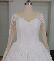 Vestido De Noiva Princess Long Sleeves Lace Wedding Dresses Luxury Bridal Dress 2016 Robe De Mariage