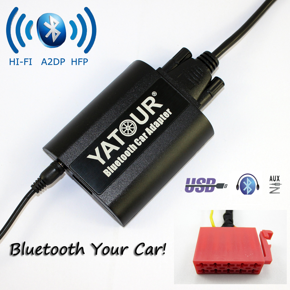 Gamma Stekker Us 80 Yatour Bluetooth Auto Adapter Voor Vw Gamma 4 Head Unit 10 Pin Golf Jetta Mk3 Passat B4 Yt Bta Aux In Hi Fi A2dp Usb Charing Port In Yatour