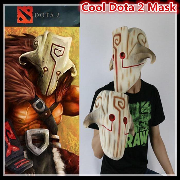 Livraison gratuite Halloween Cosplay Film Dota 2 masque Cosplay Juggernaut masque Latex Costume Party effrayant Carton Film masque jouets