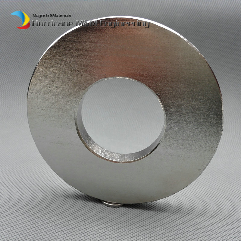 NdFeB N52 Magnet Large Ring OD 100x40x10 mm thick about 4 round Strong Neodymium Permanent Magnets Rare Earth Magnets ndfeb n42 magnet large disc od 100x10 mm with m10 countersunk hole 4 round strong neodymium permanent rare earth magnets
