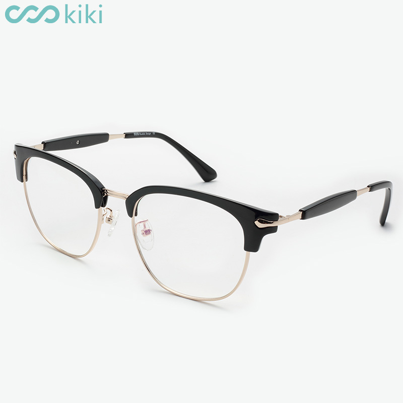 KIKI Women Men Fashion Eye Glasses Metal Retro Eyeglasses Round ...