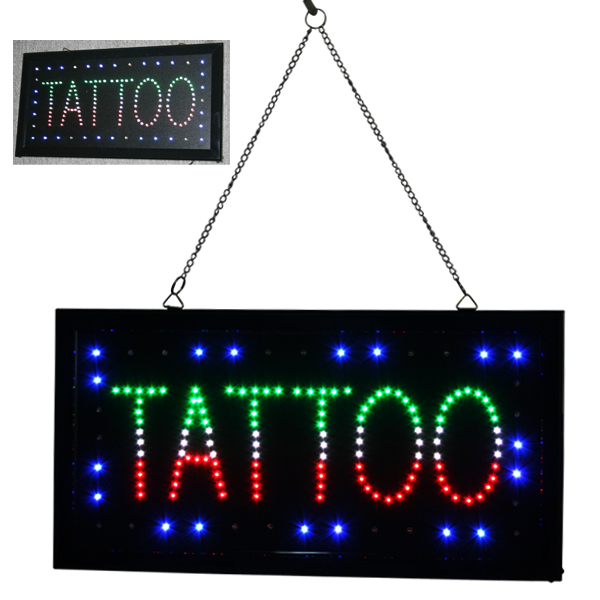 Besta Tattoo Shop TATTOO PIERCING LED Neon Light Sign Lamp Tattoo Accesories Supply led080 r walk ins welcome led neon sign whiteboard