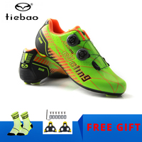 TIEBAO Carbon Fiber Cycling Shoes Road Bike Shoes Riding Equipment Bicycle Locking Bike outdoor sport sneaker carbon road shoe