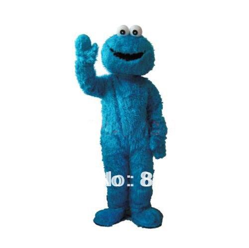 Улица Сезам лягушка Cookie Monster взрослых Размеры Маскоты костюм мультфильм костюмы