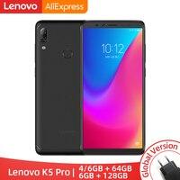 Global Version Lenovo K5 Pro Snapdragon636 Octa Core Smartphone Four Cameras 5.99 inch 18:9 4G LTE Phones 4050mAh