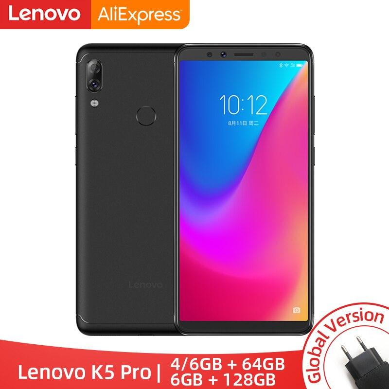 Version mondiale Lenovo K5 Pro Snapdragon636 Octa Core Smartphone quatre caméras 5.99 pouces 18:9 4G LTE téléphones 4050 mAh