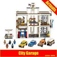 Lepin 02073 Genuine 1045Pcs Assemblage City Series The City Garage Set 4207 Building Blocks Bricks Toys