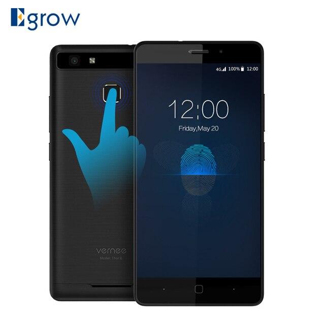"Vernee Thor E 3G RAM 16G ROM 5020mAh Fingerprint Smartphone 5"" HD 4G LTE Mobile Phone MTK6753 Octa-Core Android 7.0 Cell Phones"