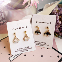 Korea Handmade New Original Cute Cartoon Car Women Drop Earring Dangle Earrings Fashion Jewelry Accessories-JQD5