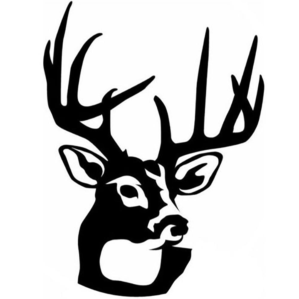 Deer Skull Gun Rifle Hunting Buck Car Truck Window Laptop Vinyl Decal Sticker