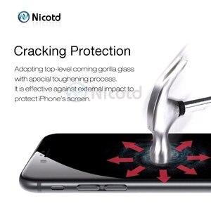 Image 4 - Закаленное стекло с полным покрытием для iPhone 7, 6, 6S Plus, 2.5D, защитная пленка для экрана iphone X, 8, 7 Plus, защитное стекло, черный, белый