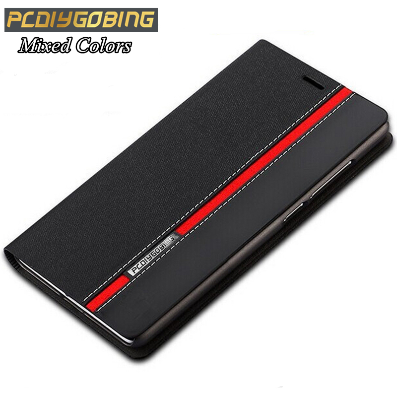 Luxury wallet stand card slot Phone cover Mixed colors PYTHORE Leather case For Doogee X6 Y100 Pro X5 Max F5 Y300 Homtom HT3(China)