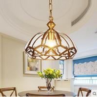 Мода лампы медь Ресторан подвесной светильник балкон открытый подвесные светильники ZL294