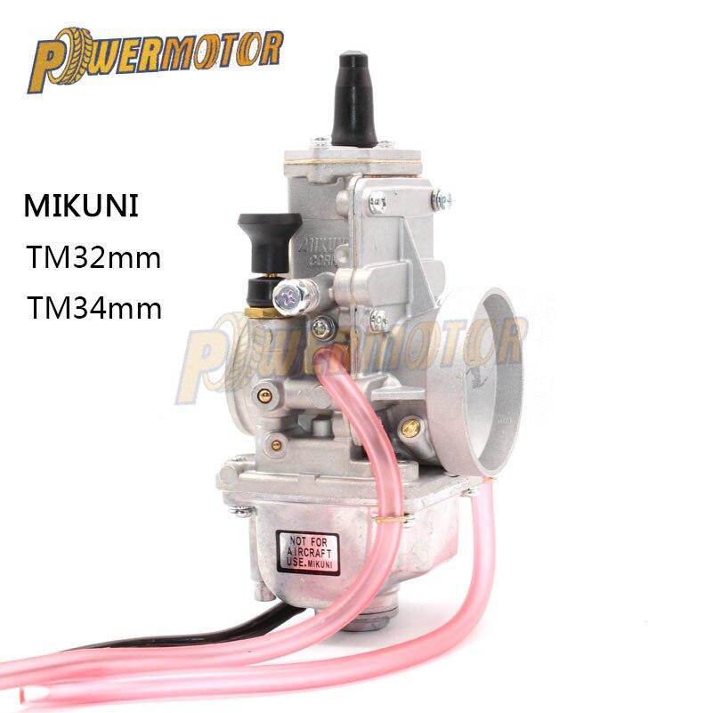 Carburateur Vergaser Carb TM34 TM32 glissière plate 34mm carburateur robinet TM34-2 42-6100 TM-34 rep pour Mikuni Honda 250 LT250 Racing