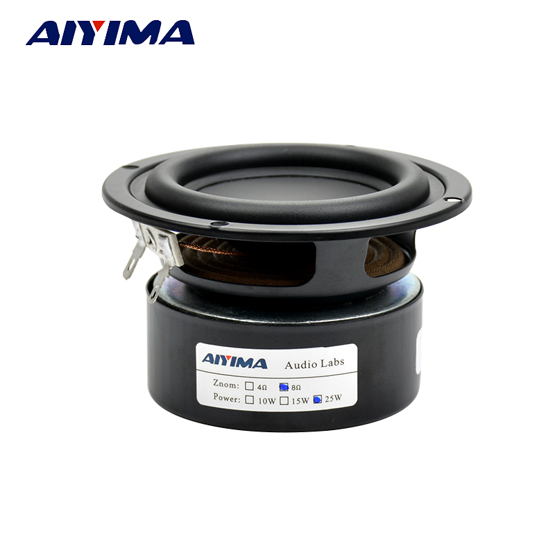 Aiyima 2PCS Tweeter Audio Speaker Portable Stereo Speakers Woofer Full Range Horn 3 inch 4ohm 8 ohm 25W Loudspeaker