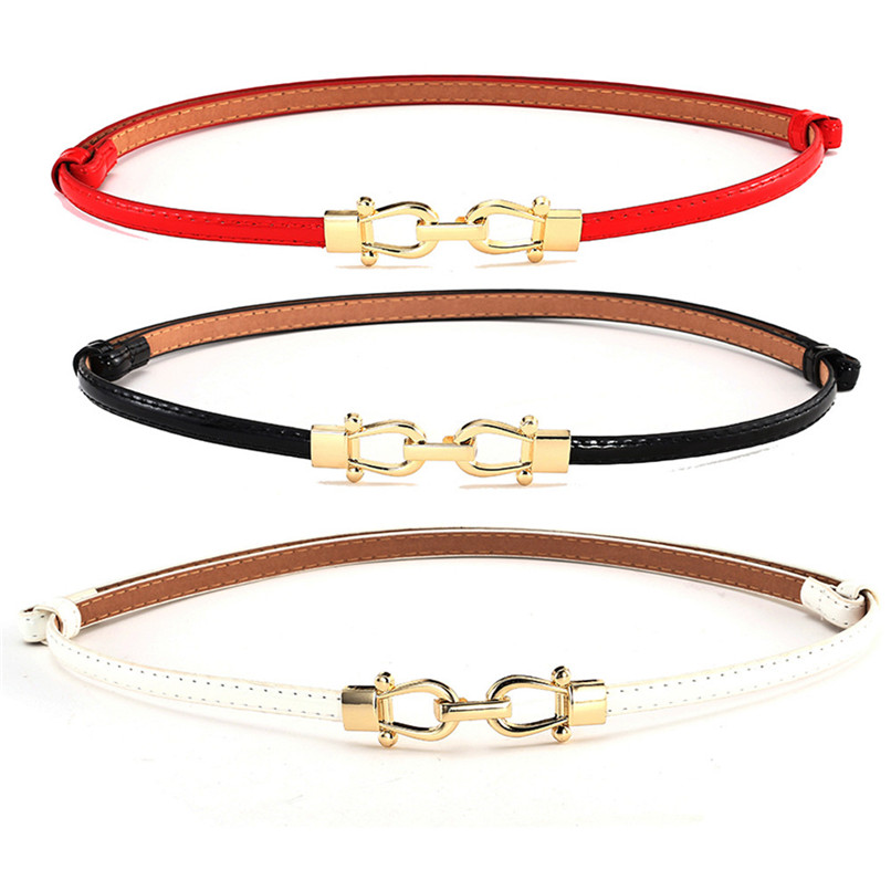 Belts For Women FashionWoman Girl Candy Colours Strap Leather Belt Waistband For Dress Shirt Leather Belt Women 2018 40AG301