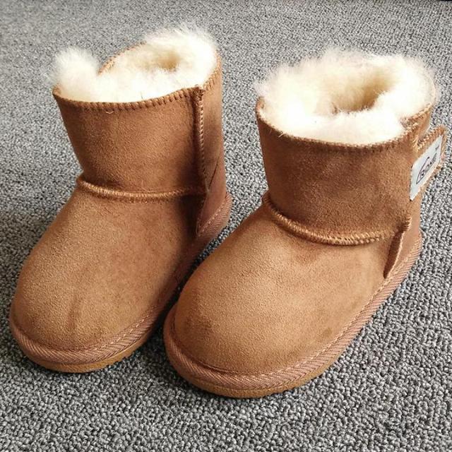 9cb2e226b2632 Fourrure De mouton Bébé Neige Bottes Garçons Filles Laid Bottes Hiver Chaud  Enfants Chaussures Marque Enfants
