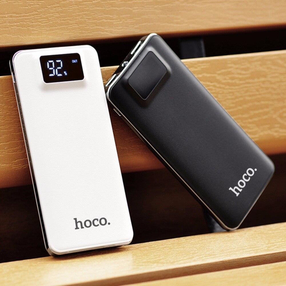 imágenes para HOCO Original de Gran Capacidad 10000 mAh Práctico Banco de Potencia ultra-delgada Powerbank Móvil Cargador Universal Con la Linterna DEL LED