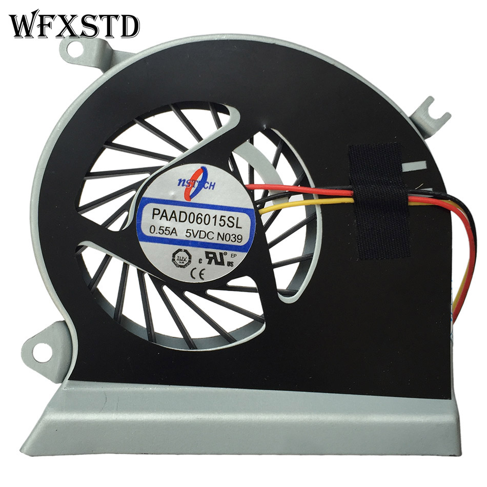 New Original Cpu Cooling Fan For MSI GE70 MS-1756 MS-1757 PAAD0615SL N285 DC Brushless Laptop Cooler Radiators Cooling Fan new original cpu cooling fan heatsink for asus k42 k42d k42dr a40d x42d cpu cooler radiators laptop cooling fan heatsink