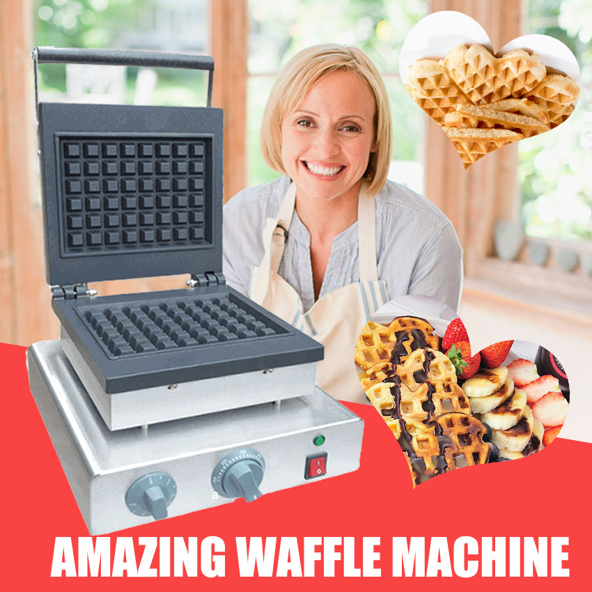 1pc high quality Non-Stick electric round waffle machine waffle maker Commercial Household Electric 110V/220V 2000W directly factory price commercial electric double head egg waffle maker for round waffle and rectangle waffle